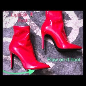 New Jessica Simpson Red Patent Faux Leather Boots